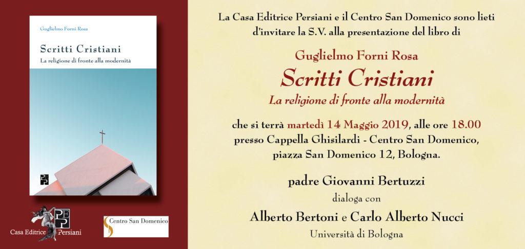 Presentazione scritti cristiani a Bologna