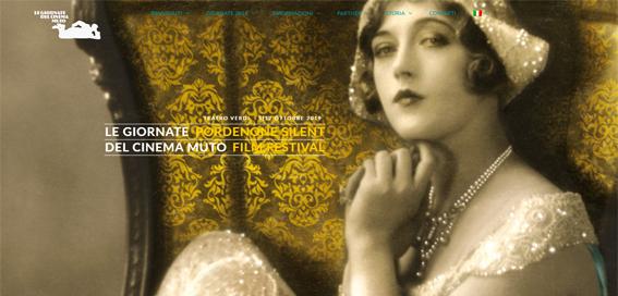 Presentazione immagine Giornate del Cinema Muto